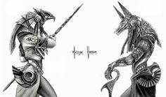 Anubis and Horus by HuseyinKaraca on deviantART