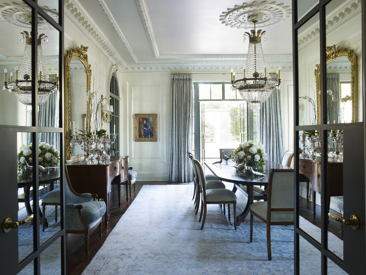 French Dining Room In By Suzanne Kasler Interiors