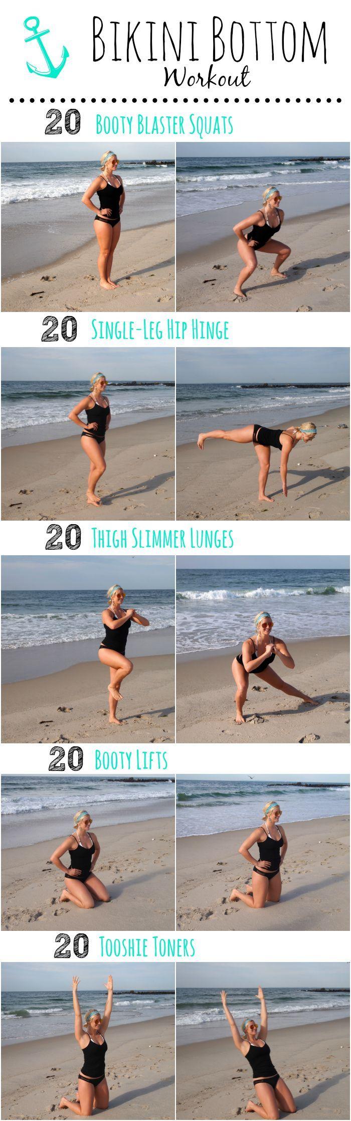 Bikini Bottom Workout - feel confident in your teeny weeny bikinis!! ;)