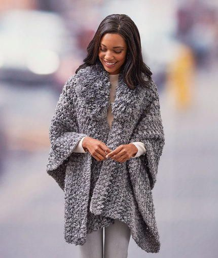 Simply Savvy Crochet Ruana Pattern - Check out this stunning free crochet pattern for a poncho.