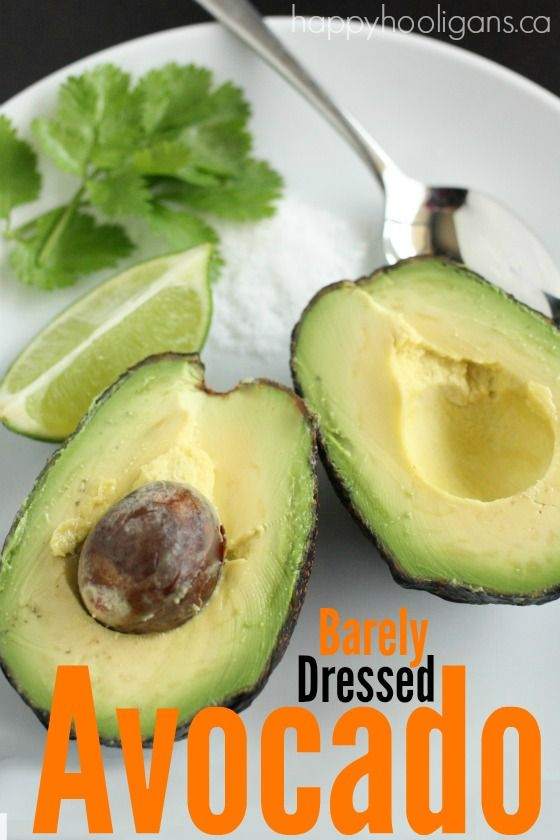 The best (easiest) way to eat a plain avocado!  Guacamole is great, but plain avocados are amazing too!  Topped with just a few basic seasonings, these barely dressed avocados are out of this world! - Happy Hooligans