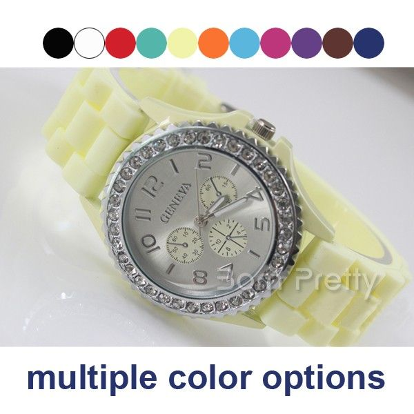 $8.98 Unisex Watch Fluorescent Silicone Watch Student's Prize Watch - BornPrettyStore.com