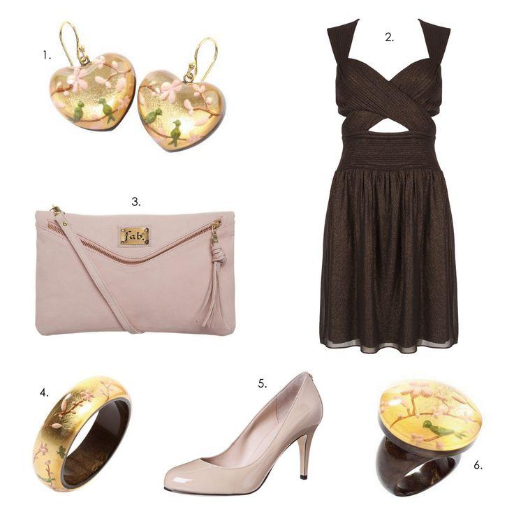 Lovely party outfit! #ZSISKA 1.Earrings: Zsiska Hanami 2.Dress: Supertrash 3.Clutch: Fab 4.Bracelet: Zsiska Hanami 5.Pumps: Guess 6.Ring: Zsiska Hanami