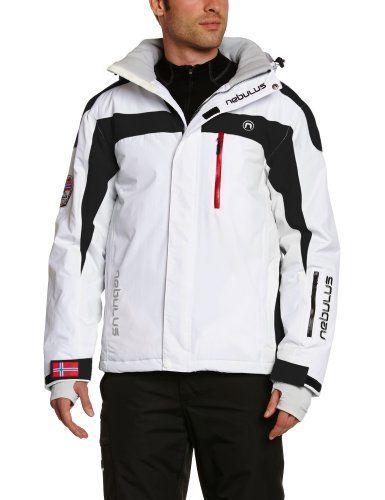 Nebulus Rocket Veste de ski Homme: Nebulus Rocket – Blouson de ski homme, colonne d'eau 10000 mm, blanc Life-style : Blouson de ski Nebulus…