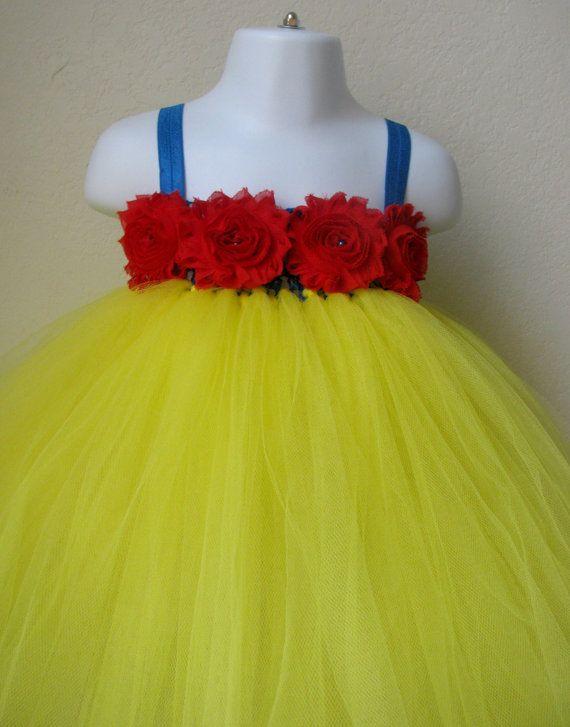 Snow white tutu dress with headband, Snow white tutu, snow white dress, snow white costume, baby first birthday tutu dress, princess tutu
