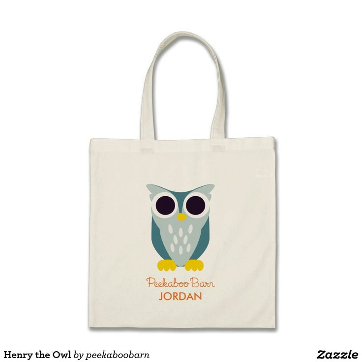 Henry the Owl Tote Bag. Regalos, Gifts. #bolso #bag