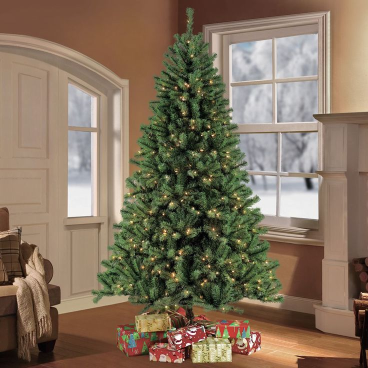 Puleo Tree Company 9-foot Pre-lit Northern Fir Artificial Christmas Tree with 1000 Clear UL-listed Lights