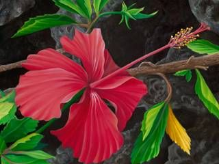 """Red Hibiscus"" by Karen Thrasher at Maui Hands"