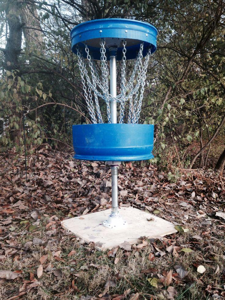 Homeade disc golf basket disc golf basket disc golf