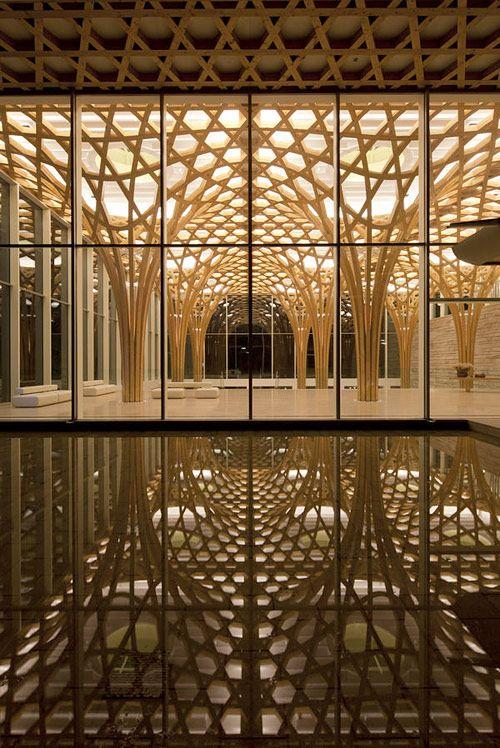 KYEONG SIK YOON & SHIGERU BAN ARCHITECTS, NINE BRIDGES GOLF CLUBHOUSE SOUTH KOREA: hexagons.