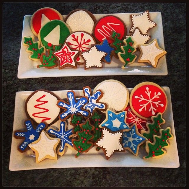 Homemade holiday cookies! They look perfect. #SelfMagazine