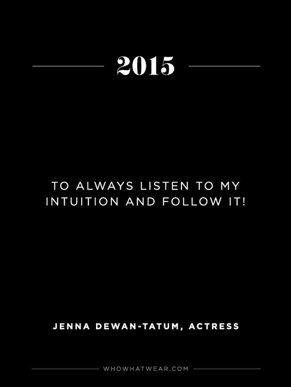 Jenna Dewan Tatum's NY Resolution: To always listen to her intuition