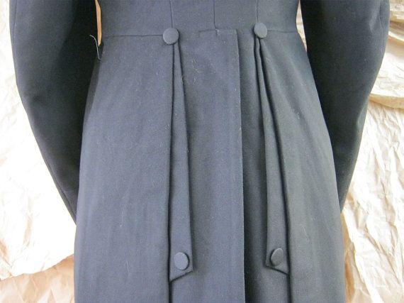 1907 Mens Wool Jacket - Edwardian Coat - Turn of the Century Waist Coat - Preacher Coat - Museum Quality - B. Pasquale Co..