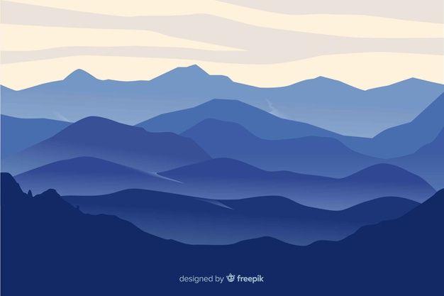 Download Mountains Landscape Blue Gradient For Free Mountain Landscape Mountain Illustration Nature Illustration