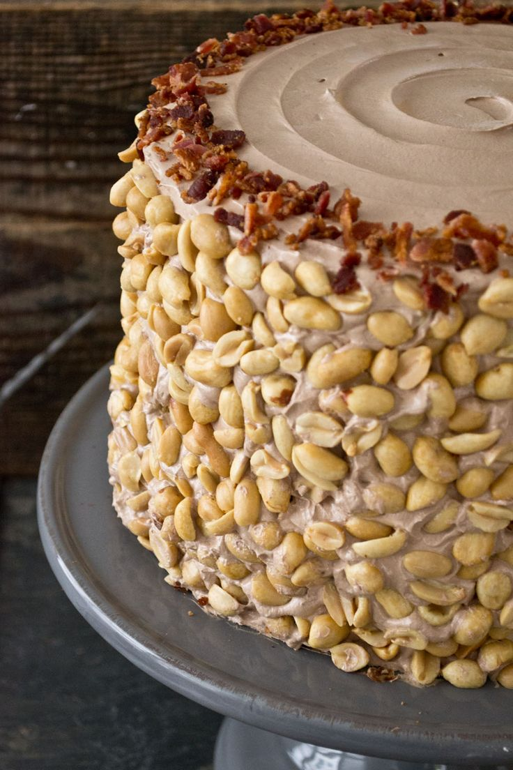 Oh Man Cake (Chocolate, Caramel, Pretzel, Peanut, and Bacon) via Sift & Whisk