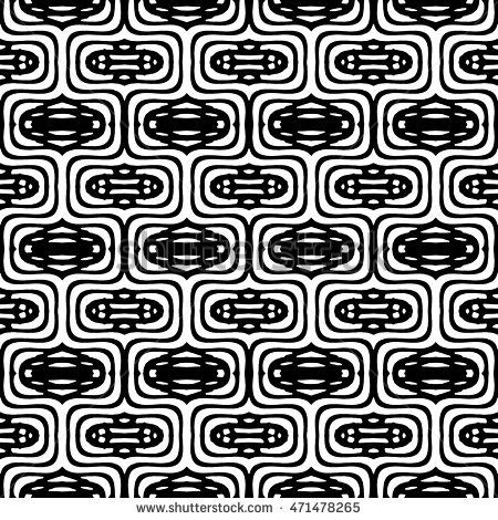 White and Black engraving seamless pattern, vector texture for registration of securities, certificate, or diploma.