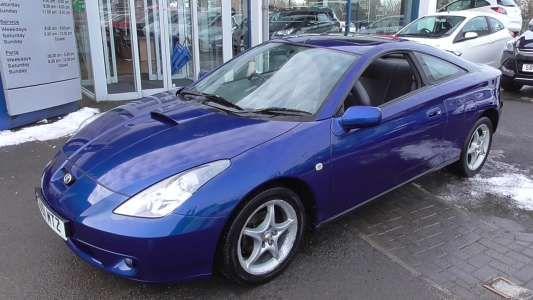 Used 2001 (51 reg) Blue Toyota Celica 1.8 VVTi 3dr for sale on RAC Cars