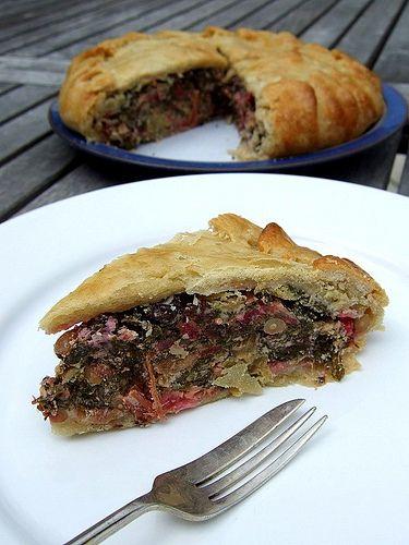 provencal swiss chard tart; looks delicious