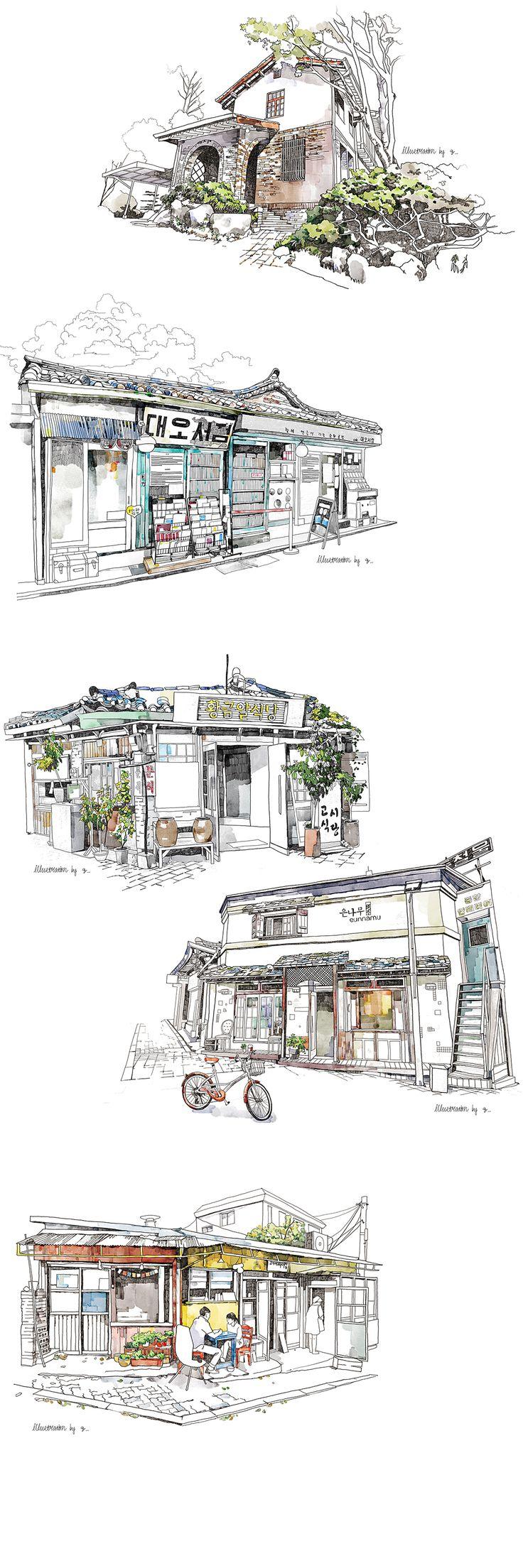 urban sketches on Behance
