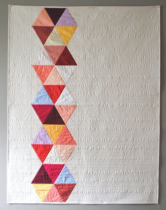 Rose Triangle Bead Quilt by CarsonToo on Etsy