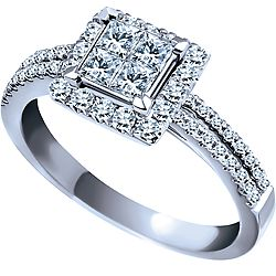 It's something different I might like - but with a 1 Carat (or bigger) diamond in the middle rather than 4 small ones.