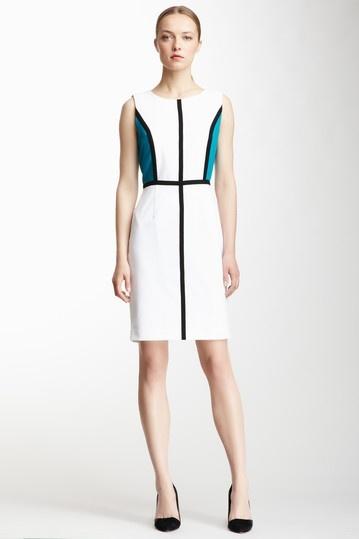 Sleeveless Colorblock Dress Calvin Klein