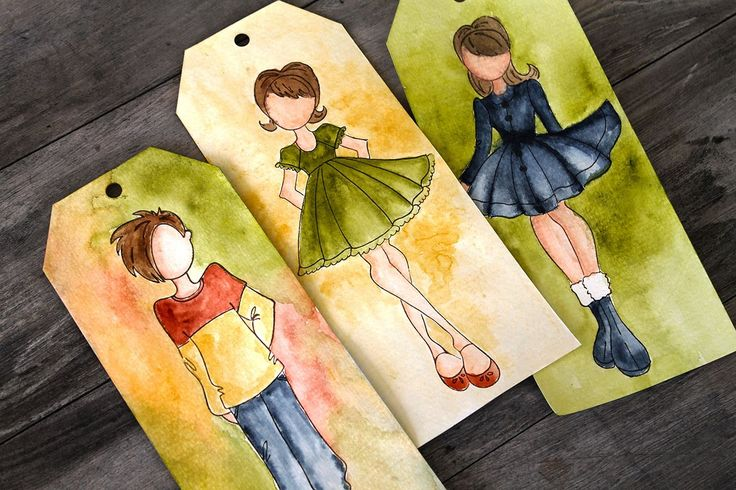 Watercolor 101 with Doll Stamps on Live with Prima-NSD #julienutting #tags #watercolor