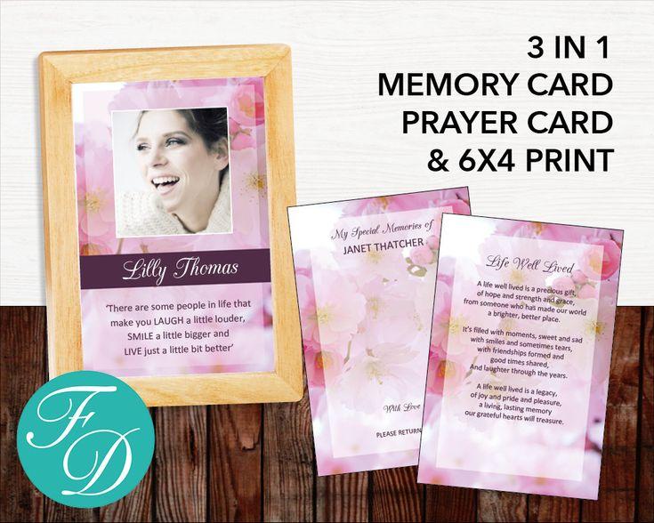 51 best Pink Funeral Program Templates images on Pinterest - celebration of life templates
