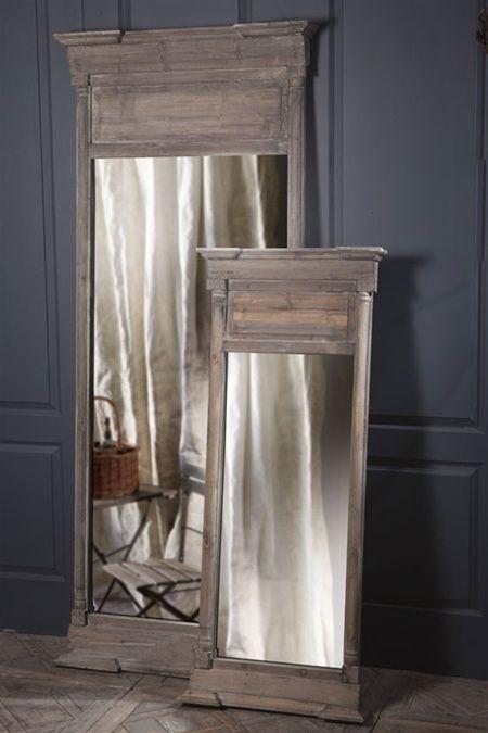 rustic trumeau mirrors restoration hardware