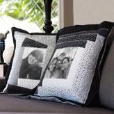 Almofadas de patchwork com fotos