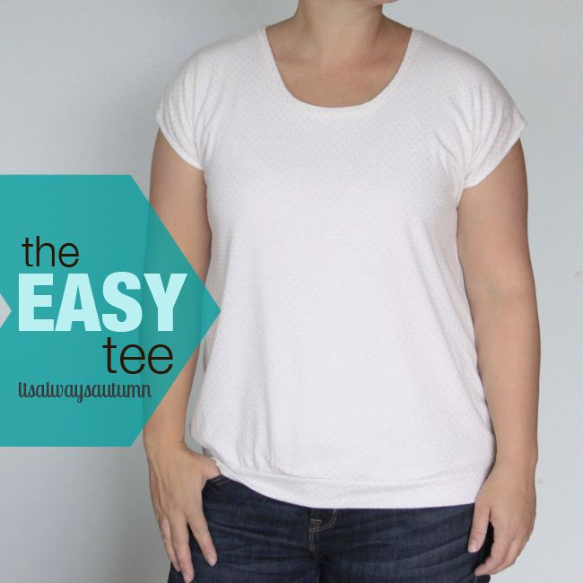 This looks so easy! Great instructions for making your own basic tee shirt. www.itsalwaysautumn.com