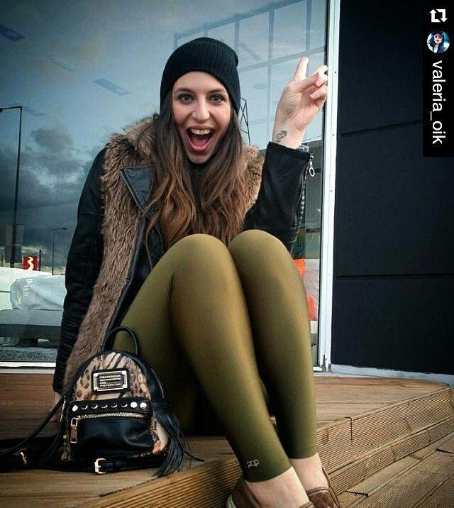 @valeria_oik in her olive #PCP leggings. Thank you beautifu! Top. #DenimLounge…