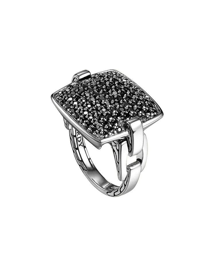 Pave Black Sapphire Ring
