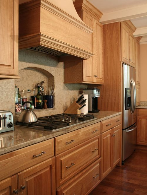 Red Oak Kitchen Cabinets Compact Appliances For Small Kitchens In 2018