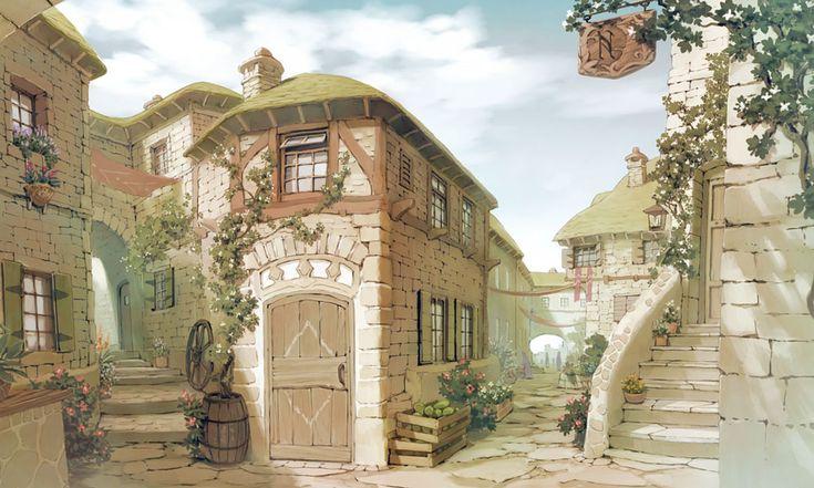 Arls Town - Characters & Art - Atelier Meruru: The Apprentice of Arland