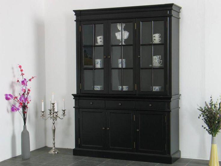 Buffetkast zwart Mozart 142x200