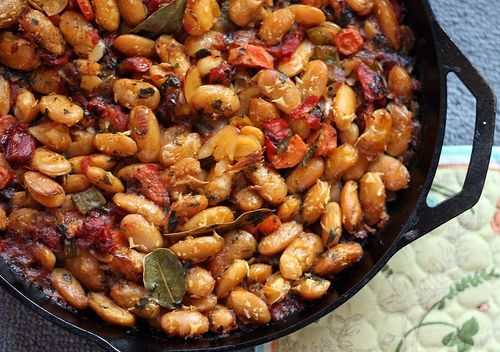 Gigantes Plaki (Greek Baked Bean Casserole). One of the enduring food memories from our trip to Greece was an elementally simple meal of this dish plus some bread and horiatiki salata (greek summer salad). SO satisfying!