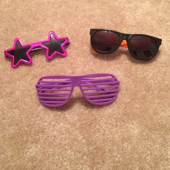 Novelty Sunglasses Bundle Set of 3 sunglasses Accessories Sunglasses