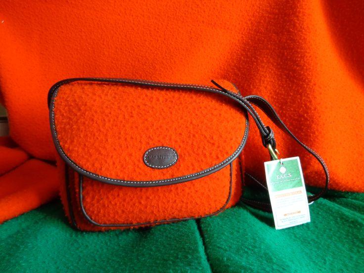 Postina a Tracolla in Panno Casentino Crossbody Messenger Bag in Panno Casentino