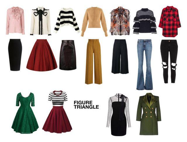 """Figure Triangle"" by elufimova-elena on Polyvore featuring мода, Theory, Prada, Joseph, Kenzo, M.i.h Jeans, River Island, self-portrait, Givenchy и Chloé"