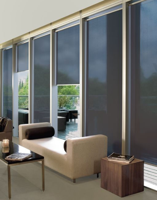 Office Waiting Room Solar Shades from Shade Works Window Fashions
