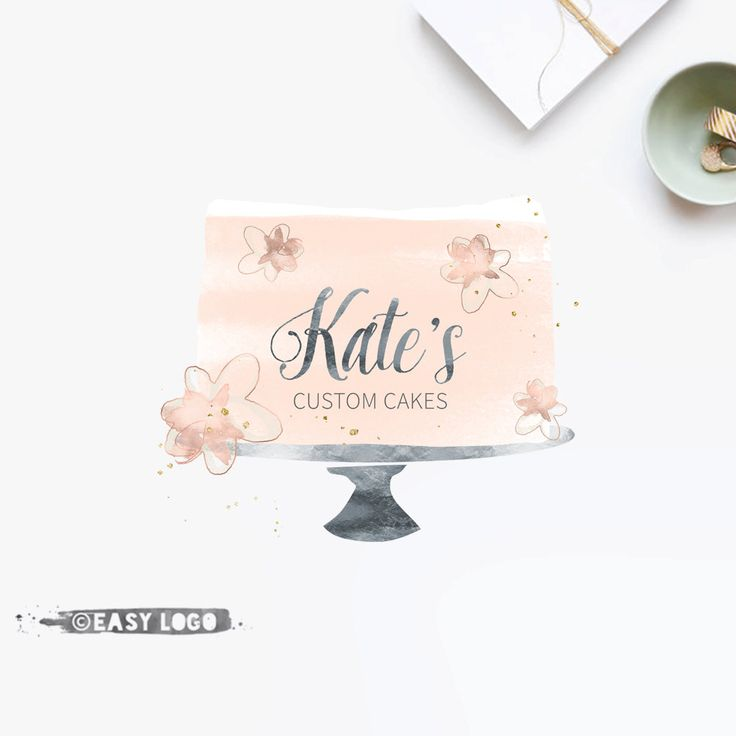 Business Logo. Bakery Logo Design. Watercolor Cake Logo. Custom Business Branding. Premade Watermark. Cakery Marketing. EL198. by easylogo on Etsy https://www.etsy.com/au/listing/232673021/business-logo-bakery-logo-design