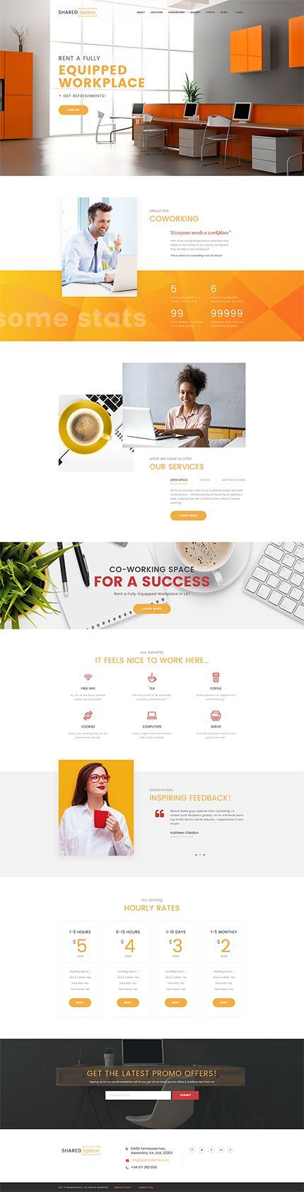 Coworking Workplace #Wordpress #template. #themes #business #responsive #Wordpressthemes