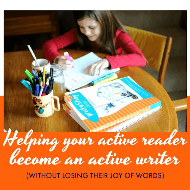 A fun, hands-on writing curriculum to help your active reader become a writer too. #homeschooling • homeschool language arts, writing, composition, English curriculum