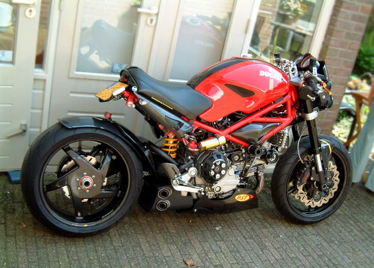 Ducati Monster Cafe Racer....thumbs up to the owner.