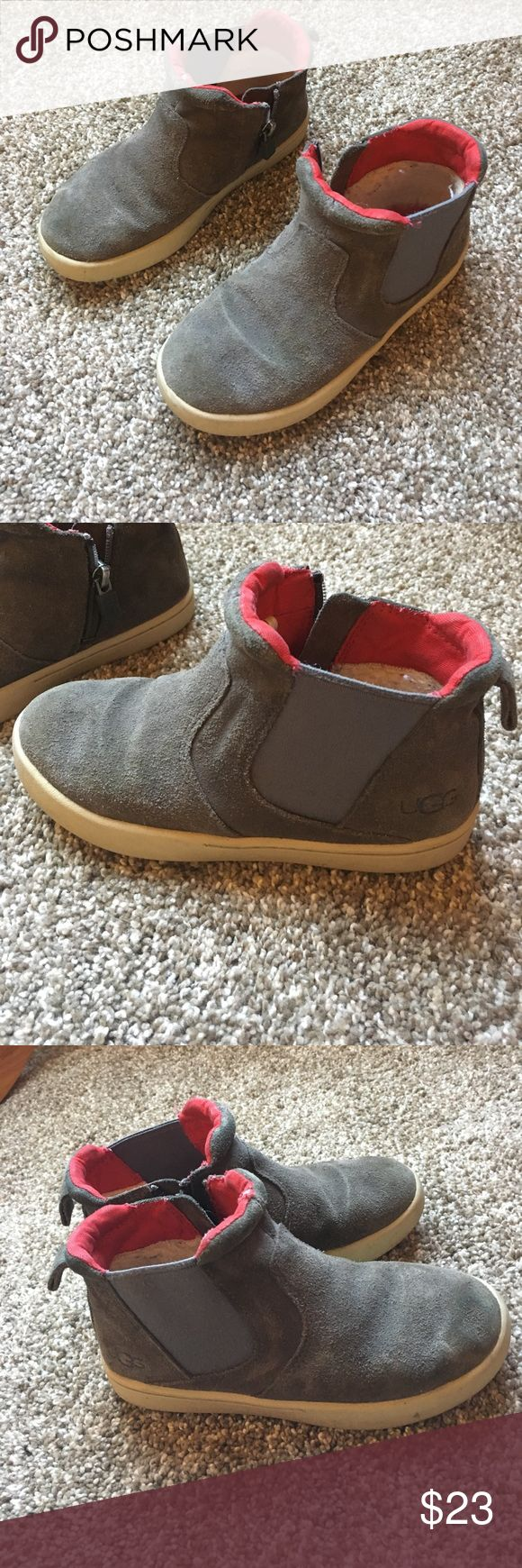 Boys uggs Boys uggs size 12 gray color zip on side so easy for kids to put on themselves bought at Nordstrom UGG Shoes Boots