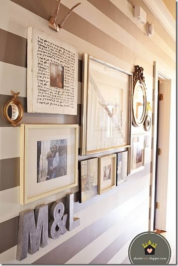 """""""Creating a #gallerywall"""" This approach recommends matching frames and, if possible, mats. #wall #photo #collage #gallery #hanging #frame #art #how-to"""