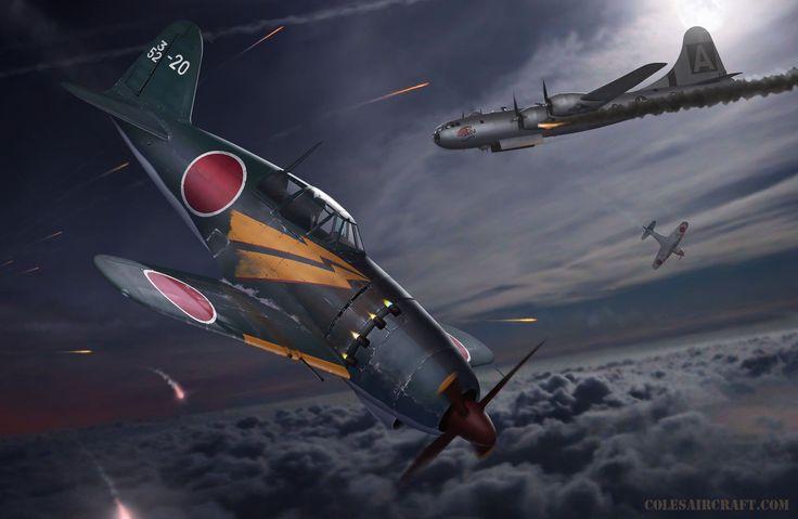 Japanese WW2 Aircraft J2M3 'Jack' Interceptor 24 x 36 by Ron Cole Signed | eBay