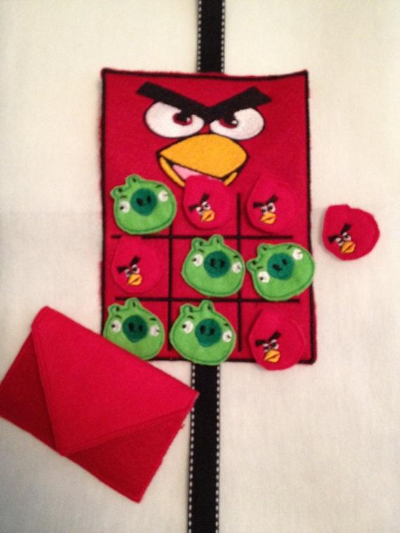 Angry birds felt tic-tac-toe