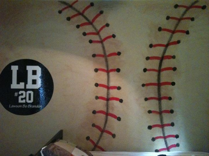 Baseball Mural In Boys Roomlovin The LB